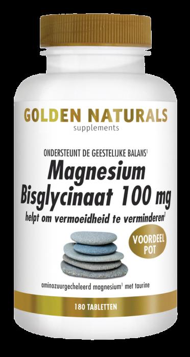 Magnesium Bisglycinaat 100 mg 180 veganistische tabletten
