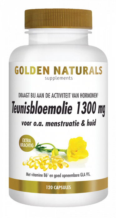 Teunisbloemolie 1300 mg Extra Krachtig 120 softgel capsules