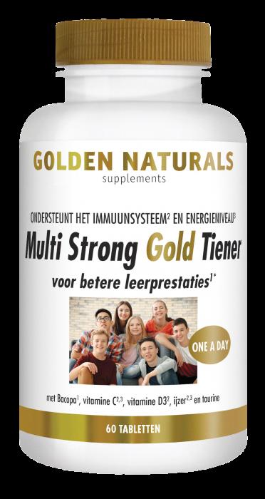 Multi Strong Gold Tiener 60 vegetarische tabletten