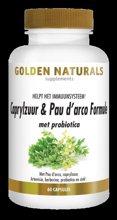 Caprylzuur & Pau d'arco Formule met probiotica 60 vegetarische capsules