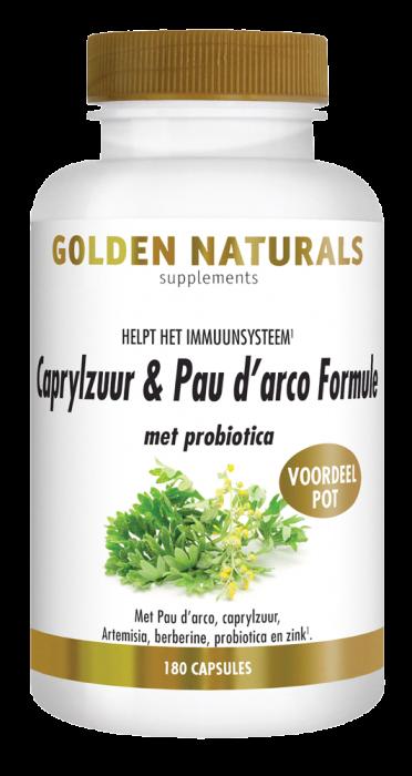 Caprylzuur & Pau d'arco Formule met probiotica 180 vegetarische capsules