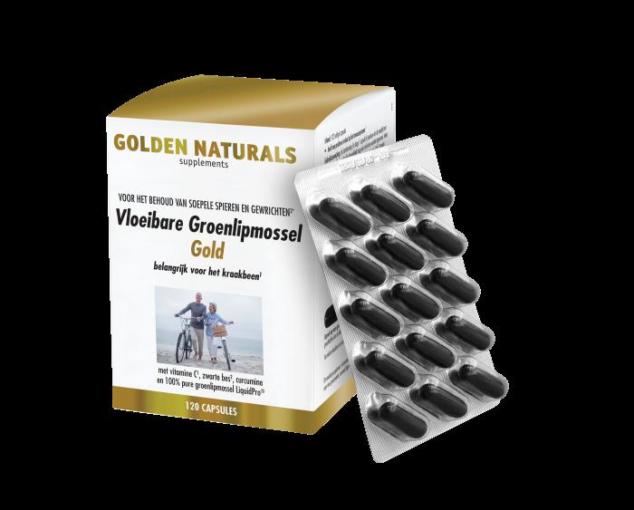 Vloeibare Groenlipmossel Gold 120 softgel capsules