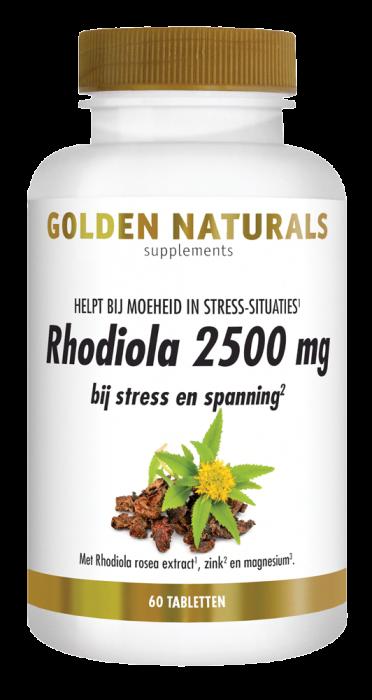 Rhodiola 2500 mg 60 veganistische tabletten