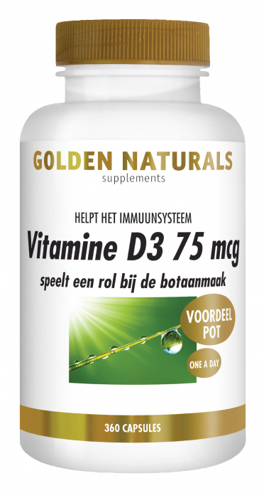 Vitamine D3 75 mcg 360 softgel capsules