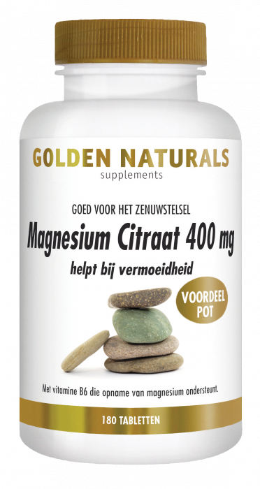 Magnesium Citraat 400 mg 180 veganistische tabletten