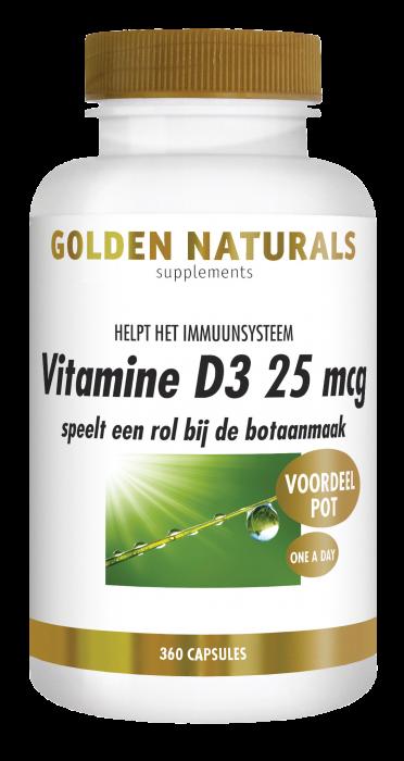 Vitamine D3 25 mcg 360 softgel capsules