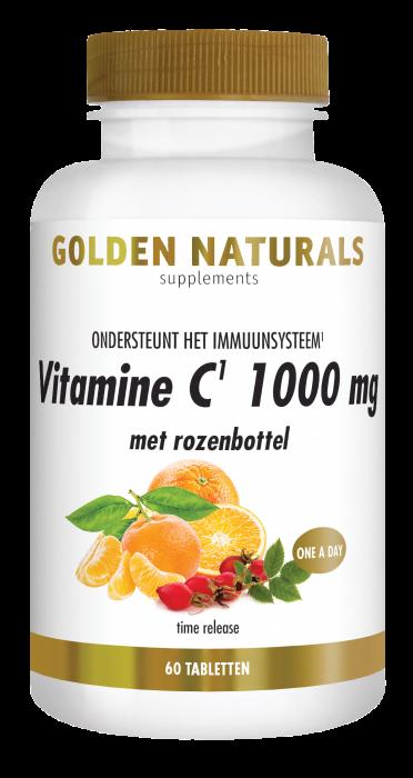 Vitamine C 1000 mg met rozenbottel 60 veganistische tabletten