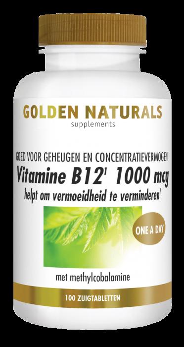 Vitamine B12 1000 mcg 100 veganistische zuigtabletten