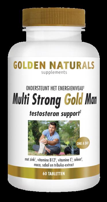 Multi Strong Gold Man 60 vegetarische tabletten