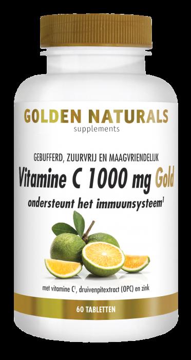 Vitamine C 1000 mg Gold 60 veganistische tabletten