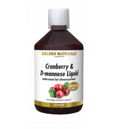 Golden Naturals Cranberry & D-mannose Liquid 500 milliliter