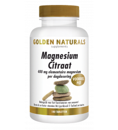 Golden Naturals Magnesium Citraat 180 tabletten