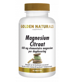 Golden Naturals Magnesium Citraat 60 tabletten