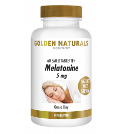 Golden Naturals Melatonine 5 mg 60 smelttabletten