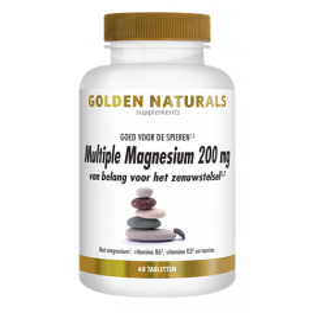 Golden Naturals Multiple Magnesium 200 mg 60 tabletten