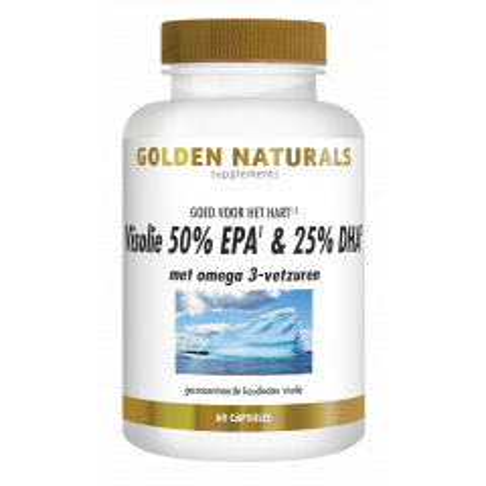 Golden Naturals Visolie 50% EPA & 25% DHA 60 softgel capsules
