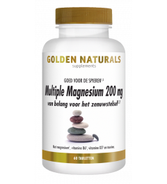 Golden Naturals Multiple Magnesium 200 mg 60 tabletten