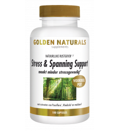 Golden Naturals Stress & Spanning Support 180 vegetarische capsules