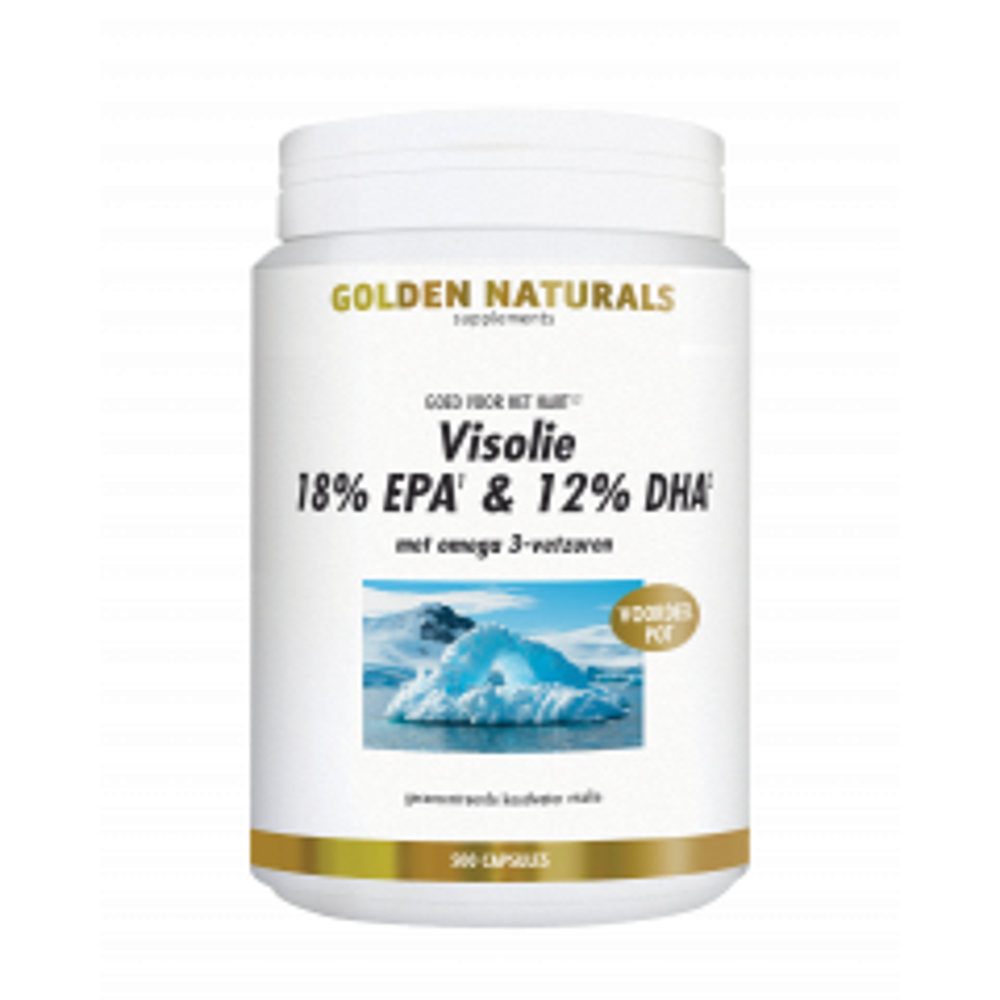Golden Naturals Visolie 18% EPA & 12% DHA 500 softgel capsules