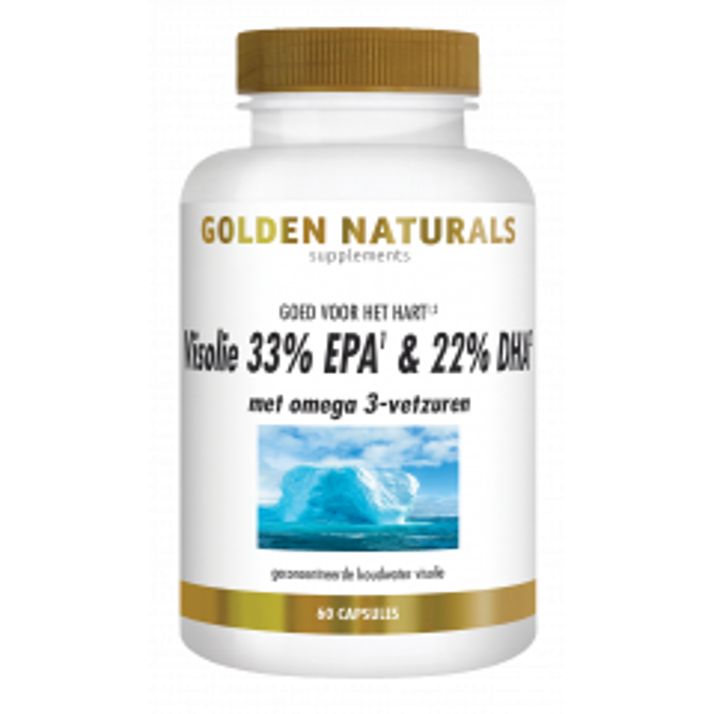 Golden Naturals Visolie 33% EPA & 22% DHA 60 softgel capsules