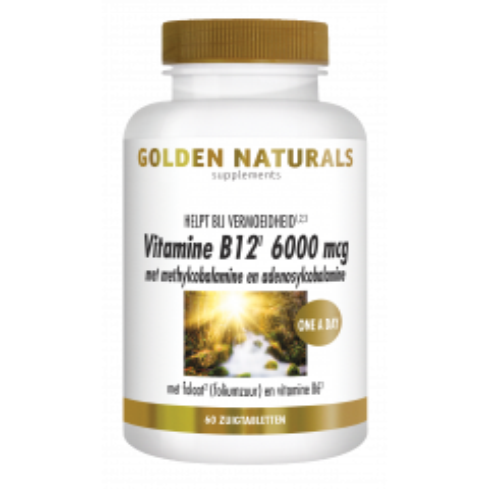 Golden Naturals Vitamine B12 6000 mcg 60 vegetarische zuigtabletten