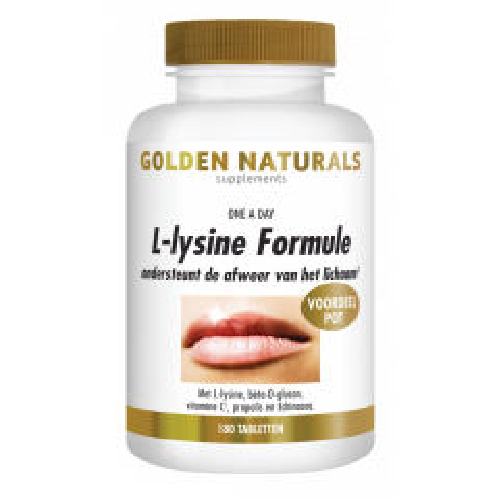 Golden Naturals L-lysine Formule 180 vegetarische tabletten
