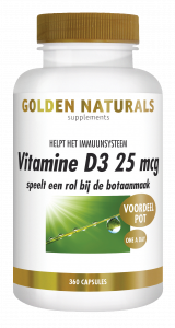 Vitamine D3 25 mcg 360 softgel capsules