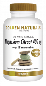 Magnesium Citraat 400 mg 180 veganistische tabletten