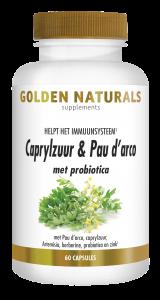 Caprylzuur & Pau d'arco met probiotica 60 vegetarische capsules