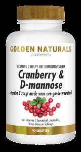 Cranberry & D-mannose 90 veganistische tabletten