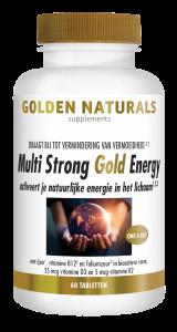 Multi Strong Gold Energy 60 veganistische tabletten