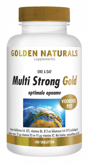 Golden Naturals Multi Strong Gold 180 tabletten