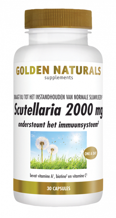 Golden Naturals Scutellaria 2000 mg 30 vegetarische capsules