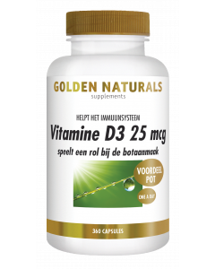 Golden Naturals Vitamine D3 25 mcg 360 softgel capsules