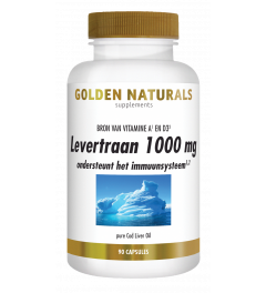 Golden Naturals Levertraan 90 softgel capsules