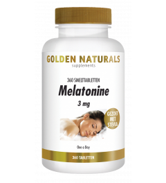 Golden Naturals Melatonine 3 mg 360 smelttabletten
