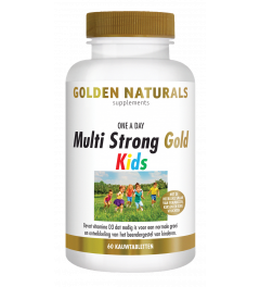 Golden Naturals Multi Strong Gold Kids 60 kauwtabletten
