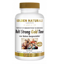 Golden Naturals Multi Strong Gold Tiener 60 vegetarische tabletten