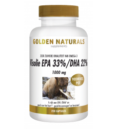 Golden Naturals Visolie EPA 33%/DHA 22% 1000 mg 220 softgel capsules