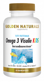 Omega 3 Visolie KIDS 60 kauwcapsules