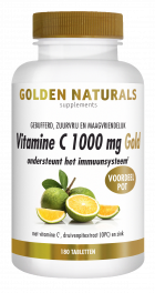 Vitamine C 1000 mg Gold 180 veganistische tabletten