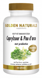 Caprylzuur & Pau d'arco met probiotica 180 vegetarische capsules