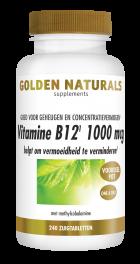 Vitamine B12 1000 mcg 240 veganistische zuigtabletten