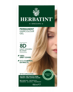 Herbatint 8D Light Golden Blonde 150 milliliter