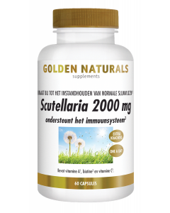 Golden Naturals Scutellaria 2000 mg 60 vegetarische capsules