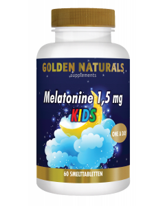 Golden Naturals Melatonine 1,5 mg KIDS 60 smelttabletten