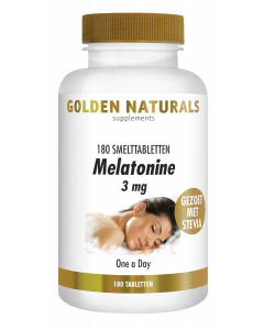 Golden Naturals Melatonine 3 mg 180 smelttabletten