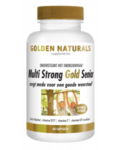 Golden Naturals Multi Strong Gold Senior 60 vegetarische capsules