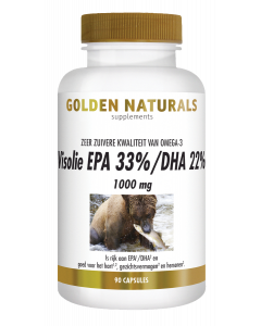 Golden Naturals Visolie EPA 33%/DHA 22% 1000 mg 90 softgel capsules