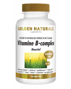 Golden Naturals Vitamine B-complex 180 tabletten